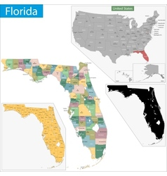 Florida map vector
