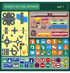 Modern city map elements for generating your own vector