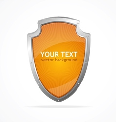Metal shield lke speech templates for text vector