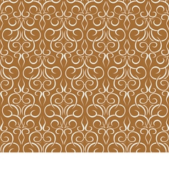 Repeating pattern on a brown seamless wallpaper vector