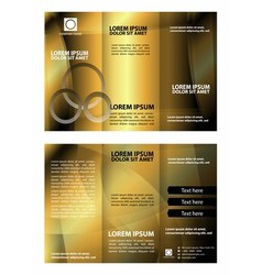 Abstract golden tri-fold brochure template vector