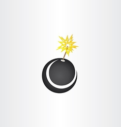 Black bomb explosion icon vector