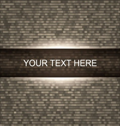Brick wall background with light vector
