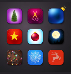 Set of icons stylized like mobile app vector