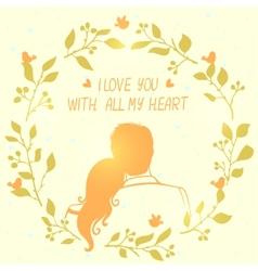 Love card wreath vector