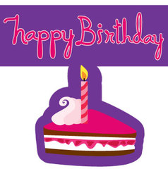 Pattern of happy birthday cake vector