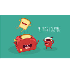 Toasters and coffee vector