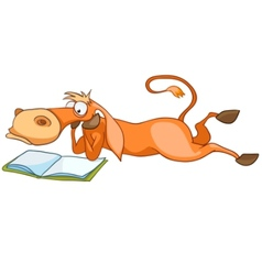 Cartoon character horse vector