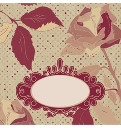 Vintage roses card vector