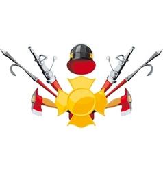 Fire-fighting equipment emblem vector