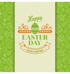 Easter greeting card holiday typography vector