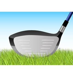 Golf grass driver vector