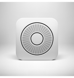 White abstract app icon button template vector