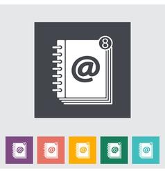 Contact book 2 vector