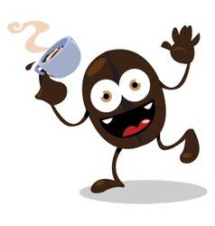 Funny coffee bean vector