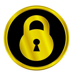 Lock sign button vector