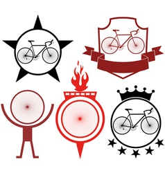 Road cycling vector