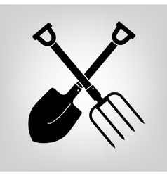 Shovel and pitchfork icon vector