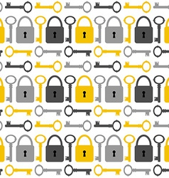 Seamless pattern with keys and padlockes vector