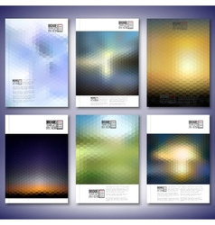 Abstract blurred backgrounds brochure flyer or vector