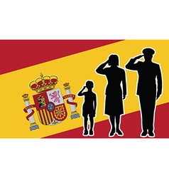 Spain soldier family salute vector