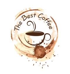 Coffee design over background vector
