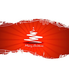 Beautiful red tree christmas vector