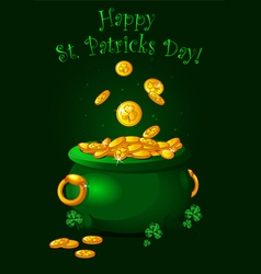 Pot of gold background vector