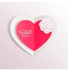 Valentines day background with paper hearts and vector