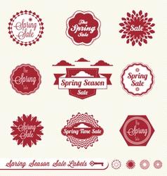 Spring sale labels vector