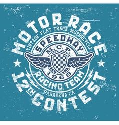 Motor race contest vector