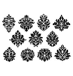 Set of floral and foliate floral motifs vector