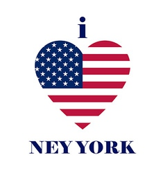 I love new york t-shirt design heart tee templates vector