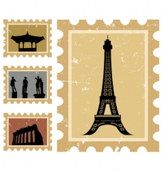 Historical stamps vector