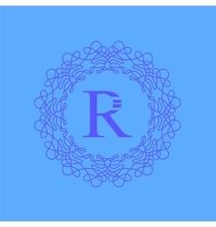 Simple monogram r design vector