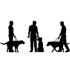 Guide dog vector