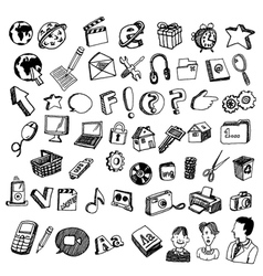 Comic icons vector