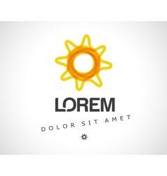 Abstract sun logo design template vector