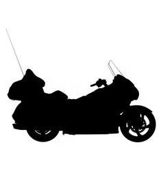 Touring motorbike silhouette vector