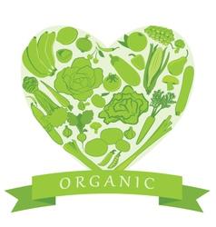 Organic groceries vector