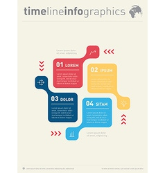 Infographic web template for diagram business vector