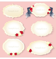 Vintage frames set romantic style shabby chic vector