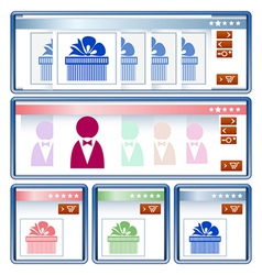 Online shopping interface vector