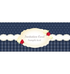 Classic romantic invitation design vector