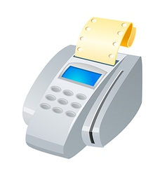 Icon credit card machine vector