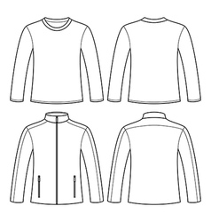 Jacket and long-sleeved t-shirt vector