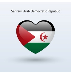 Love sahrawi arab democratic republic symbol heart vector