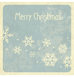 Merry christmas retro card vector