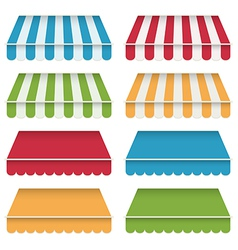 Awning canopies vector