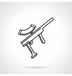Black line icon for paintball gun vector